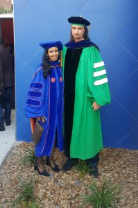 Recent graduate, Fatma Al-Awadhi, and Dr. Luesch