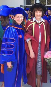 Recent graduate, Marci Smeltz, and Dr. James