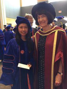 Recent graduate, Guo Zhong, and Dr. James
