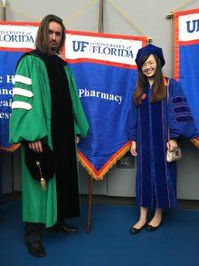 Recent graduate, Weijing Cai, with Dr. Luesch