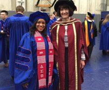 Recent graduate, Erin Jackson, and Dr. James